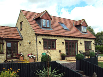 Pottersbury stone brick house