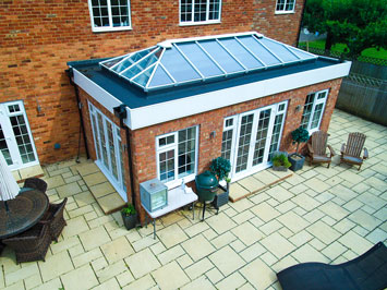 An orangery built in keeping with the existing property